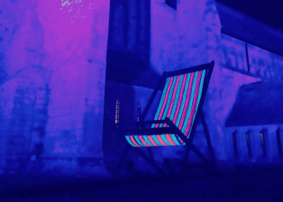 neon deck chair